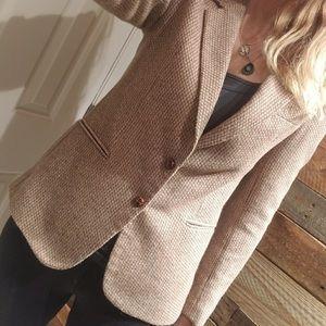 Vintage herringbone wool blazer